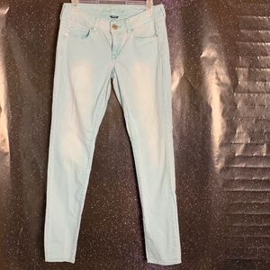 American Eagle-Turquoise Skinny Jeans size 8
